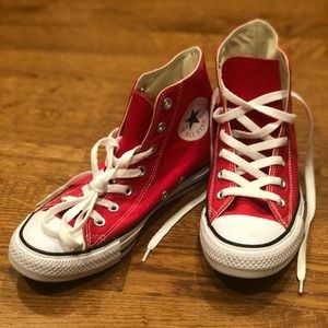 Red Converse High Top Sneakers